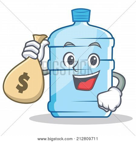 With money bag gallon character cartoon style vector illustration