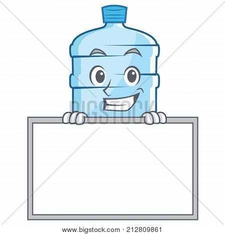 Grinning with board gallon character cartoon style vector illustration