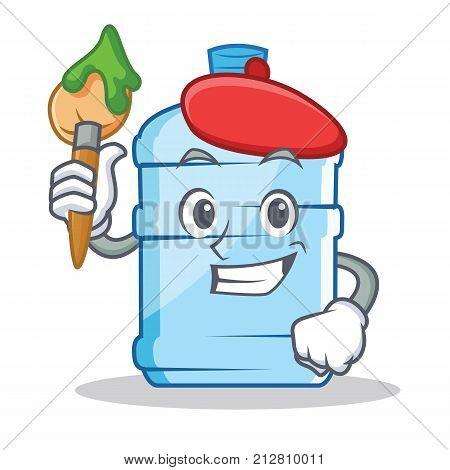 Artist gallon character cartoon style vector illustration