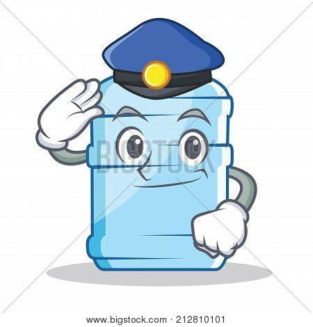 Police gallon character cartoon style vector illustration