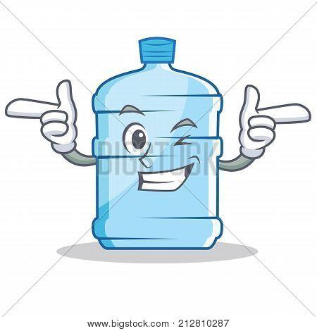 Wink gallon character cartoon style vector illustration