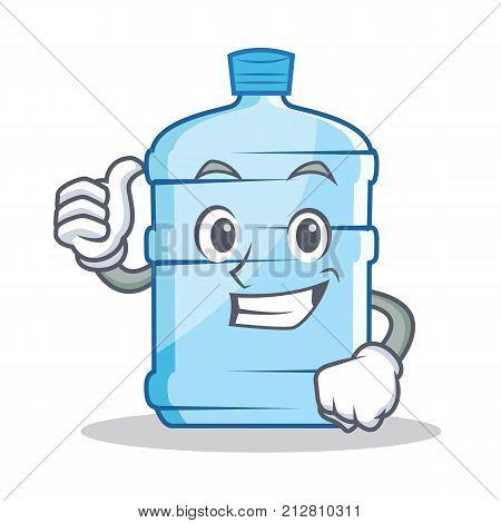 Thumbs up gallon character cartoon style vector illustration