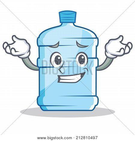 Grinning gallon character cartoon style vector illustration