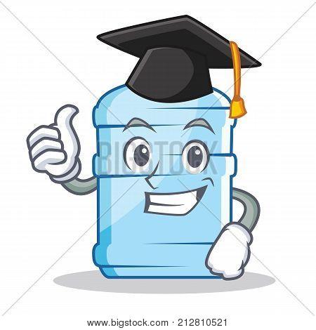 Graduation gallon character cartoon style vector illustration