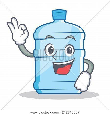 Okay gallon character cartoon style vector illustration