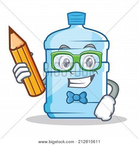 Student gallon character cartoon style vector illustration