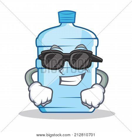 Super cool gallon character cartoon style vector illustration
