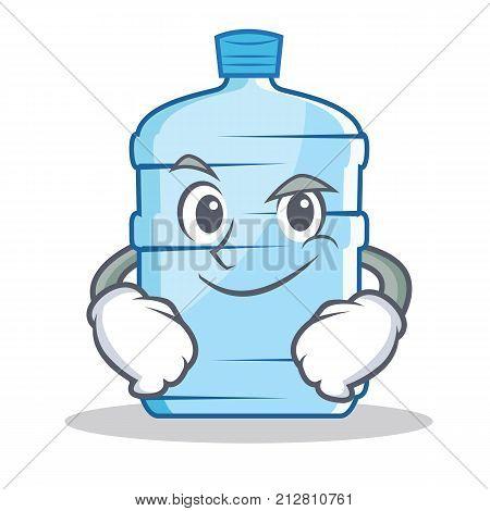 Smirking gallon character cartoon style vector illustration