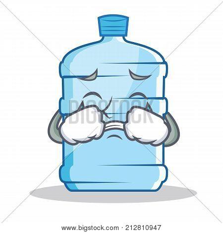 Crying gallon character cartoon style vector illustration