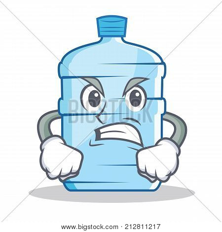 Angry gallon character cartoon style vector illustration