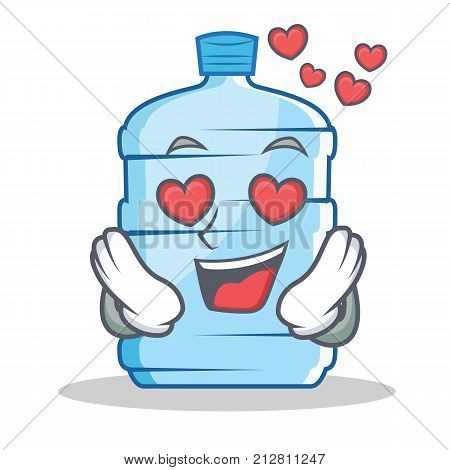 In love gallon character cartoon style vector illustration