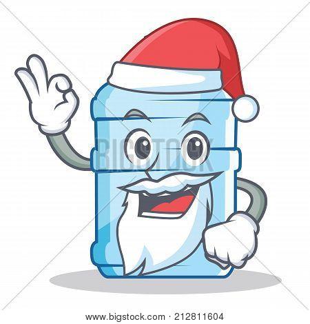 Santa gallon character cartoon style vector illustration