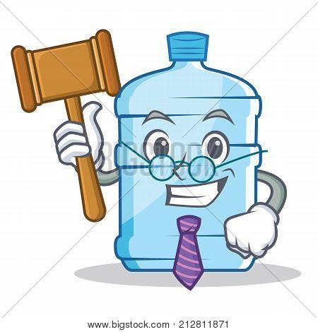 Judge gallon character cartoon style vector illustration
