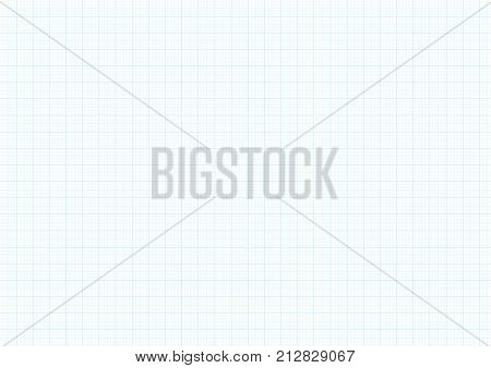Graph Paper Background Vector Blue Plotting Millimeter Drawing Ruler Line Guide