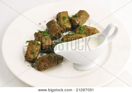 Dolma with sauce
