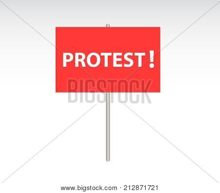 Protest posters. Crowd of people protesters vector illustration