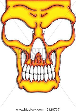 Red Yellow Skull
