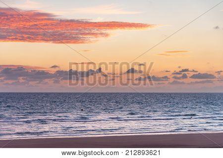Sunrise On Omaha Beach In Normandy France
