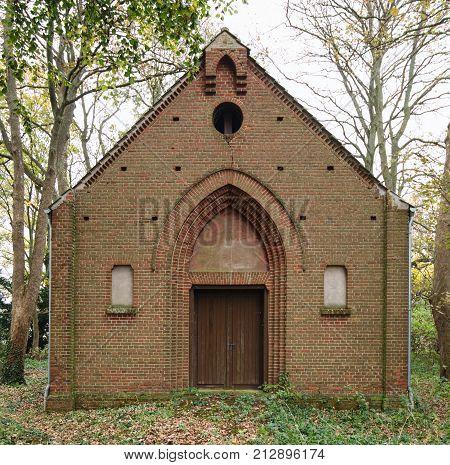 Historical Chapel In Alt Ungnade, Mecklenburg,vorpommern, Germany