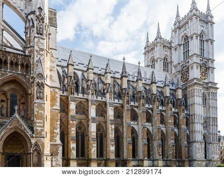 Westminster Abbey, historic cathedral in central London, England