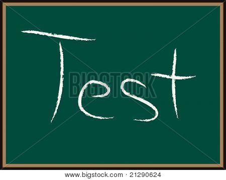 TEST text on Chalkboard