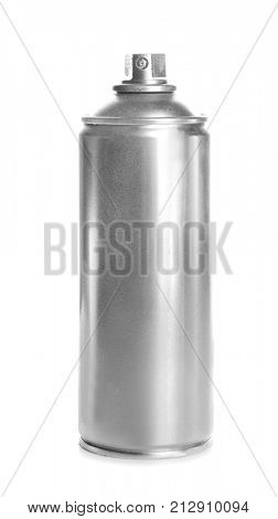 Spray can with paint, isolated on white