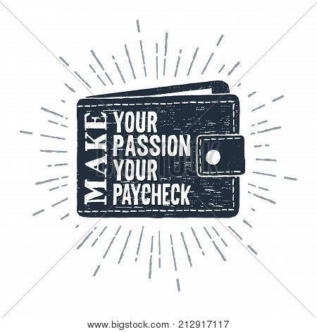 Hand drawn wallet textured vector illustration and