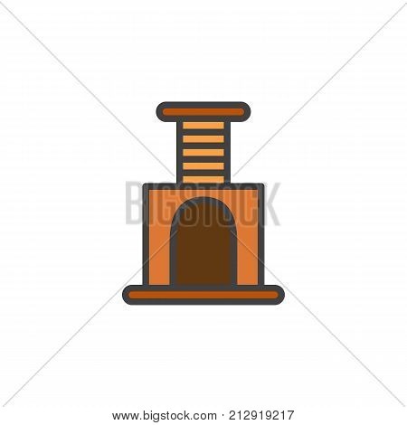 Cat scratcher filled outline icon, line vector sign, linear colorful pictogram isolated on white. Symbol, logo illustration. Pixel perfect vector graphics