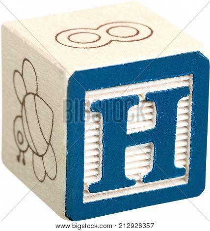 Wooden block letter block preschool alphabet block alphabet cube educational toys