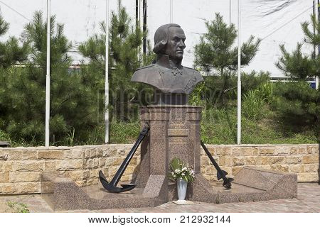 Kudepsta, Sochi, Krasnodar region, Russia - July 10, 2016: Bust of Fyodor Ushakov in the temple in settlement Kudepsta, Sochi