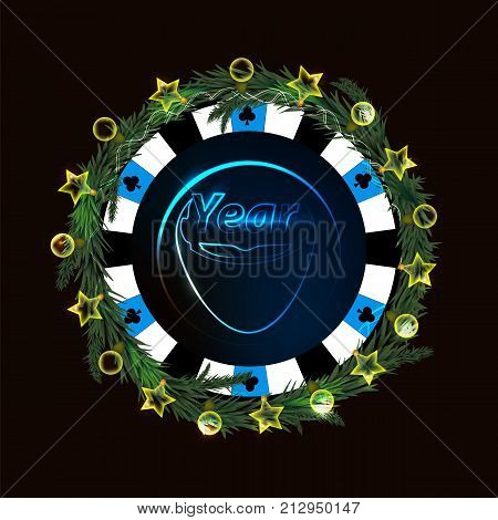 New Year And Christmas Holiday. A Casino