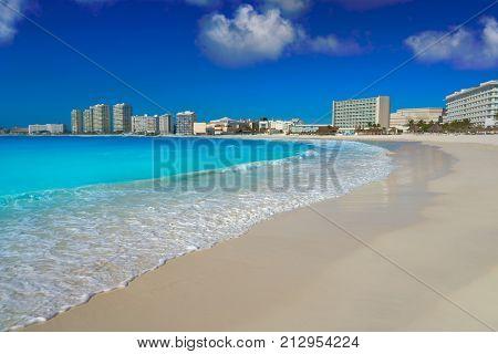 Cancun Forum beach Playa Gaviota Azul in Mexico at Hotel Zone