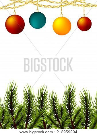 Xmas Mock Conifer Vector & Photo (Free Trial)   Bigstock