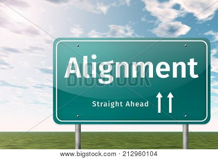 Signpost Image Illustration Graphic With Alignment Wording