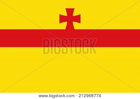 Flag of Meppen is a town in and the seat of the Emsland district of Lower Saxony Germany. Vector illustration