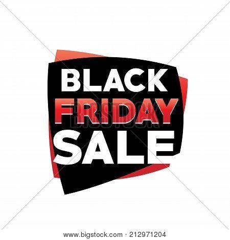 black friday sale sign, bold black friday sale, black friday vector, black friday illustration, isolated on white background.