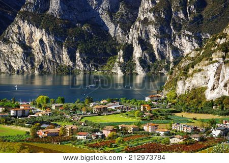 Panorama of the Lake Garda - Riva del Garda, Italy, Europe