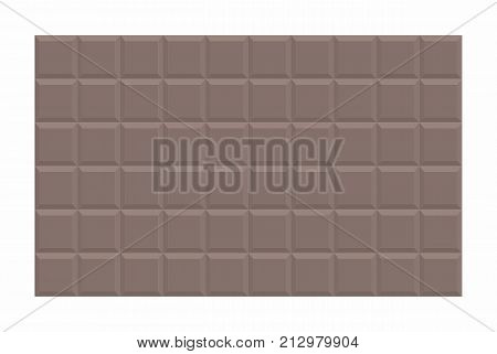 Illustration of a big dark chocolate tablet