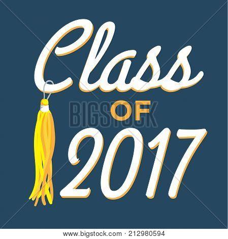 Class Of 2017 Congratulations Graduate Typography