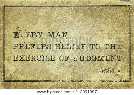 Prefer Belief Seneca