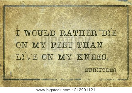 Rather Die Euripides