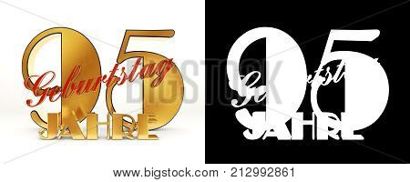 Number Ninety Five Years (95 Years) Celebration Design. Anniversary Golden Number Template Elements