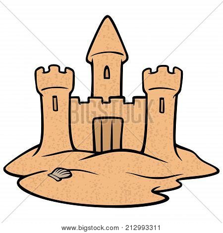 Sandcastle - A vector illustration of a summer beach Sandcastle.