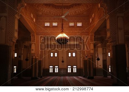 Interior of Niamey Grand mosque Funded with money from Libyan Government of Gaddafi - - 21-09-2017 Niamey Niger