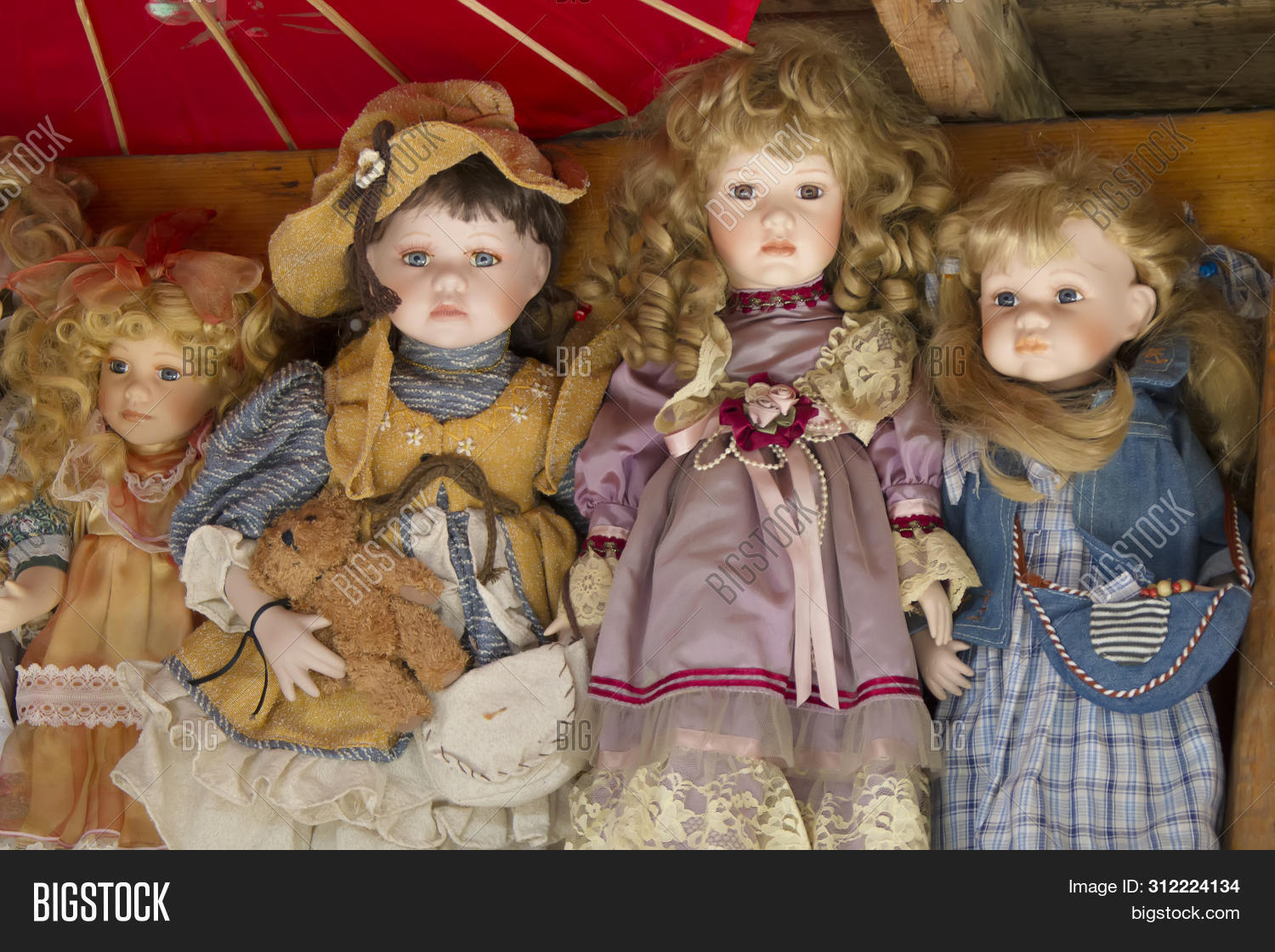 Antique Dolls Image Photo