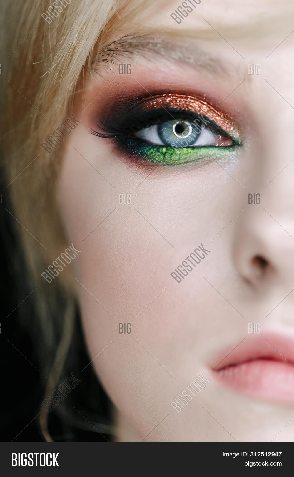 Half Face Girl Image Photo Free