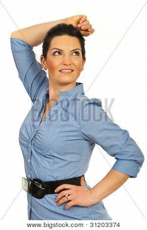 Modern Executive Woman Looking Sideways