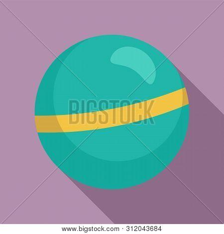 Rhythmic gymnastics ball icon. Flat illustration of rhythmic gymnastics ball vector icon for web design poster