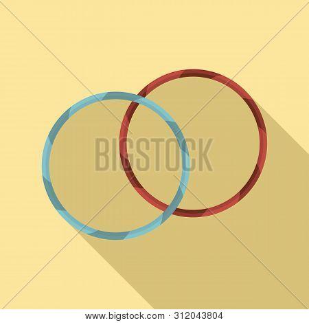 Rhythmic gymnastics hoop icon. Flat illustration of rhythmic gymnastics hoop vector icon for web design poster