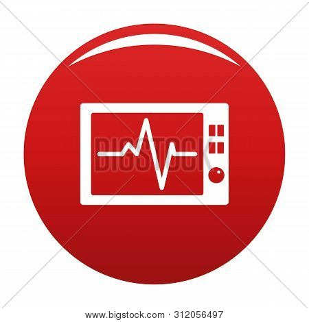 Ekg Icon. Simple Illustration Of Ekg Vector Icon For Any Design Red